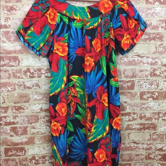 49a04f7143eb Hilo Hattie Dresses & Skirts - Hilo Hattie Hawaiian mumu moomoo kaftan dress